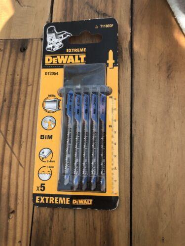 DeWalt DT2054 Métal Lames De Scie Sauteuse Pack de 5 conçu pour METAL