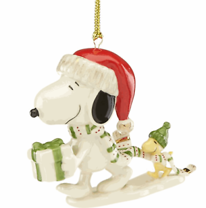 LENOX WITH LOVE FROM SNOOPY ORNAMENT NEW IN BOX