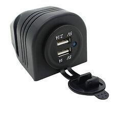 ATV Car 12V DC Dual USB Charger Power Adapter Outlet Cigarette Lighter Socket fu