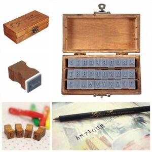 30pcs-pack-Romantic-Capital-Letter-Vintage-Wooden-Box-Alphabet-Rubber-Stamp-Set