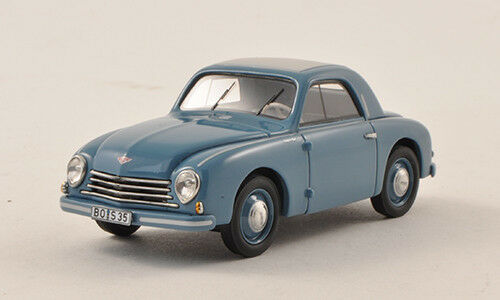 Wonderful modelcar  GUTBROD SUPERIOR COUPE 1953 - bleugris - scale 1 43