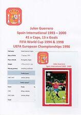 JULEN GUERRERO SPAIN INTL 1993-2000 ORIGINAL HAND SIGNED UPPER DECK CARD (UNUSED