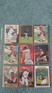 Brian-Jordan-Baseball-Card-Mixed-Lot-approx-42-cards