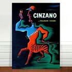 "Vintage French Liquor Poster Art ~ CANVAS PRINT 8x12"" Cinzano Centaur"
