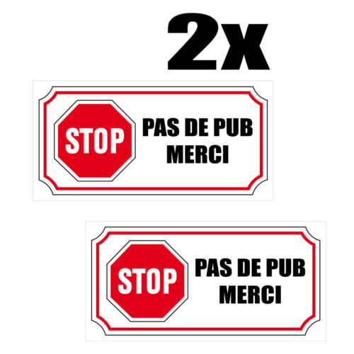 2x sticker decal stop no thanks pub mailbox
