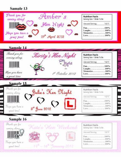 5 X 2L Bottle Label Favours Birthday Wedding Baby Shower Hen Night Christmas