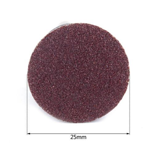 "20Pcs 1/"" Roll Lock Quick Change Sanding Discs Type R Roloc Abrasive Tool 60~180#"