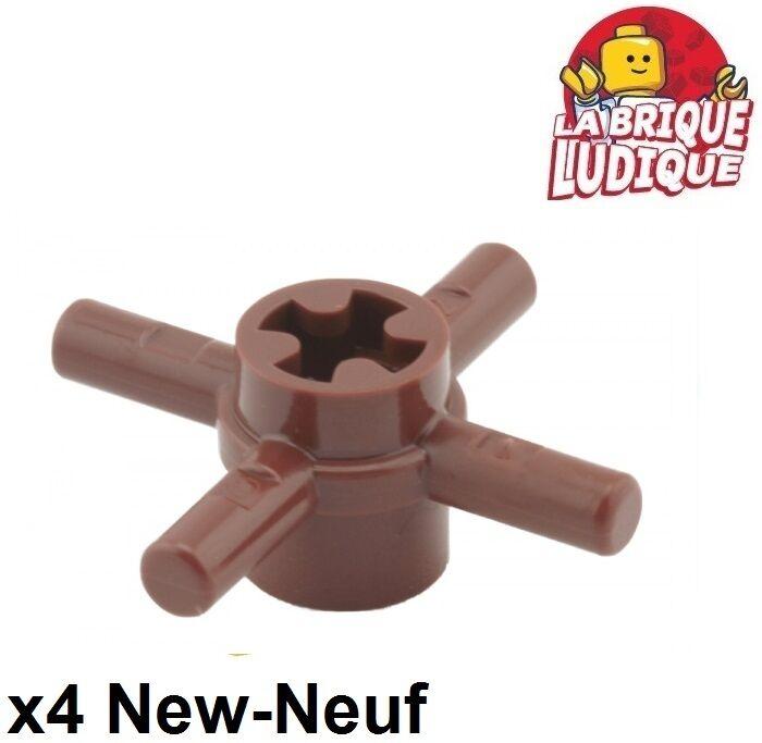 3x Lego 48723 Steuerrad Kreuz Achsverbinder rot braun reddish brown 4252456
