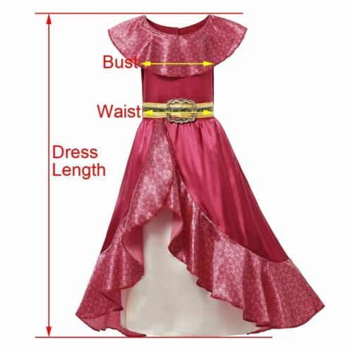 Girls Dress Set Princess Cosplay Party Costume Girls Sleeveless Ruffles Classic