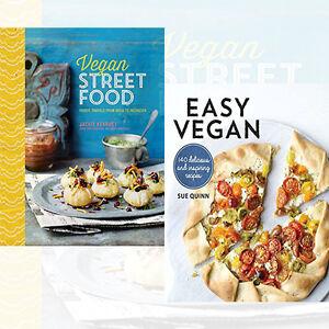 Easy vegan 2 books collection set vegan street food by jackie image is loading easy vegan 2 books collection set vegan street forumfinder Image collections