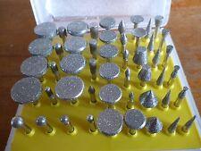 50pc Diamond Burr Engraving / Rotary Set for Dremmel  New  HB265 3.17mm Shank