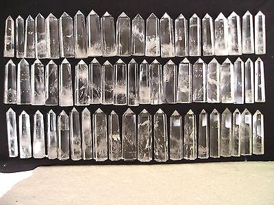 60 NATURAL clear quartz crystal Point healing