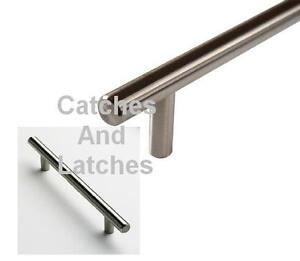 T-Bar-Handles-Kitchen-Cabinet-Doors-Brushed-T-Bar-Pulls-14-SIZES-SOLID-STEEL