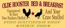 ~Item # 1749 K PRIMITIVE STENCIL~OLDE ROOSTER Bed & Breakfast