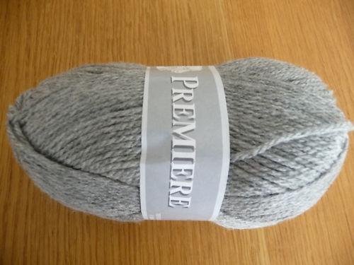 Pelotes laine acrylique couleur grise fabriqué en France
