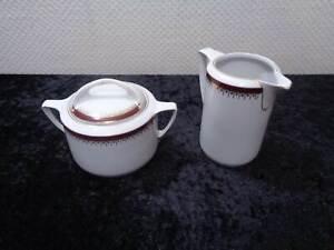Art-Deco-Furstenberg-Porcelain-Design-Sugar-Bowl-Milk-Jug-Vintage