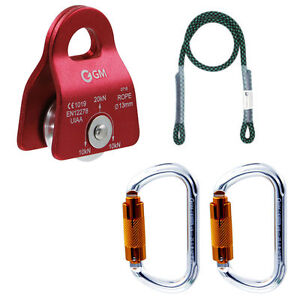 """Tree Climbing Kit for Outdoor Worker Pulley System 30"""" Prusik Pulley Arborist"""