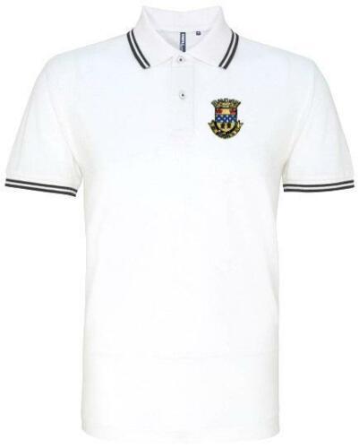 St Mirren 1944-1948 Retro Football Tipped Polo Embroidered Crest S-XXXL