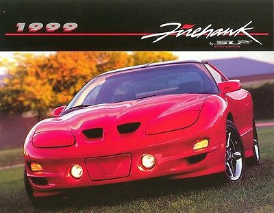 1999 Pontiac Firehawk SLP Engineering Two-Sided Sales Sheet Brochure Mint!