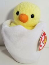 Ty Beanie Baby RARE Eggbert Chick in Egg With Gasport Hang Tag 1998 1999