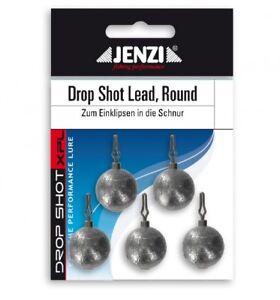 Jenzi-Drop-Shot-Lead-Blei-rund-round-Dropshotblei-verschiedene-Gewichte
