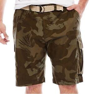 Men's Foundry Cargo Shorts W/Belt Size W 50 Dark Olive Camo ...