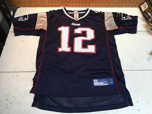a7a85d58 Details about Reebok TOM BRADY No. 12 NEW ENGLAND PATRIOTS On-Field (Youth  XL 18-20) Jersey