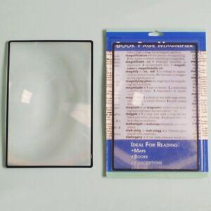 Zinn-Leselupe-Folienlupe-Karte-Lupe-Blatt-X3-Buch-Seite-Lesen-A5-180-120mm