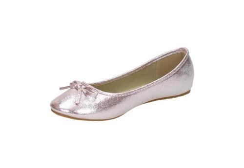 Jumex Damen Ballerinas Halbschuhe Slipper Flats Glanz Sommer Freizeit NEU 36-41