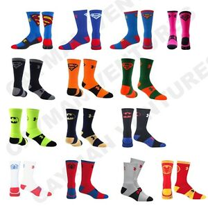 9eb47a4ebb7 Image is loading Under-Armour-Kids-Youth-Superhero-Socks-Superman-Batman-