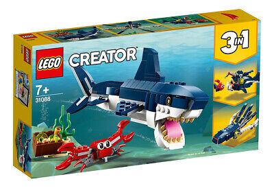 2019 Moda Lego Creator Creature Degli Abissi 31088 Lego