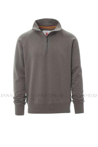 Felpa uomo mezza zip maglia 100/% cotone manica raglan Payper Austin vari colori