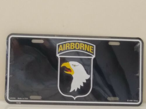 United States Army 101st Airborne Division Embossed License Plate