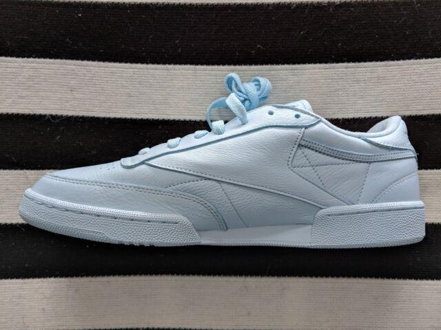 Reebok Mens Club C 85 Elm BS7804 Pastel Blue Leather Sneakers Men's 12 DS NIB