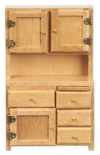 Dolls House Light Oak 1920/'s Larder Dresser Miniature Wooden Kitchen Furniture