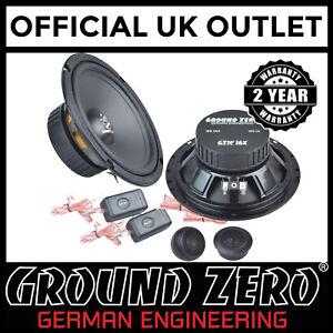 Toyota-Supra-Mk4-Ground-Zero-300-Watts-6-5-034-2-Way-Component-Rear-Car-Speakers