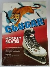 Cougar Hockey Skates Boys Size 5 Soft Boot Black White Thick Padding Great Cond