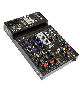 Peavey-PV-6-Mixer-Ideal-for-Live-Shows-Recording-Podcasting-Ships-FREE-to-USA