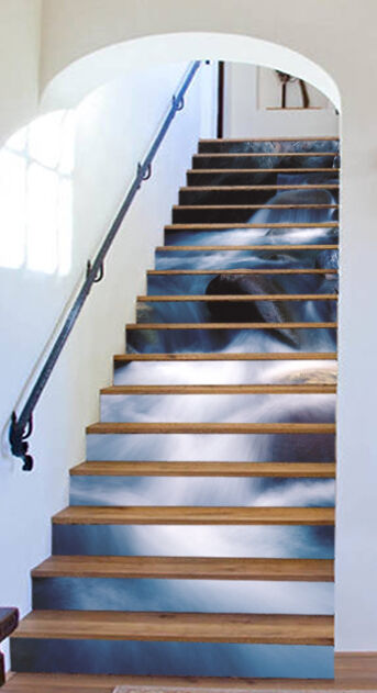 3D Stone water 67 Stair Risers Decoration Photo Mural Vinyl Decal Wallpaper UK