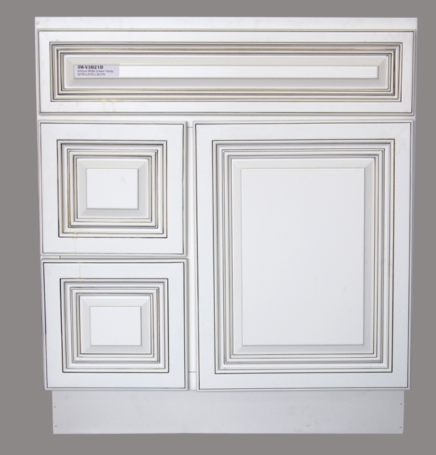 White Bathroom Vanity Cabinet 48 inches Wide x 21 inches ...