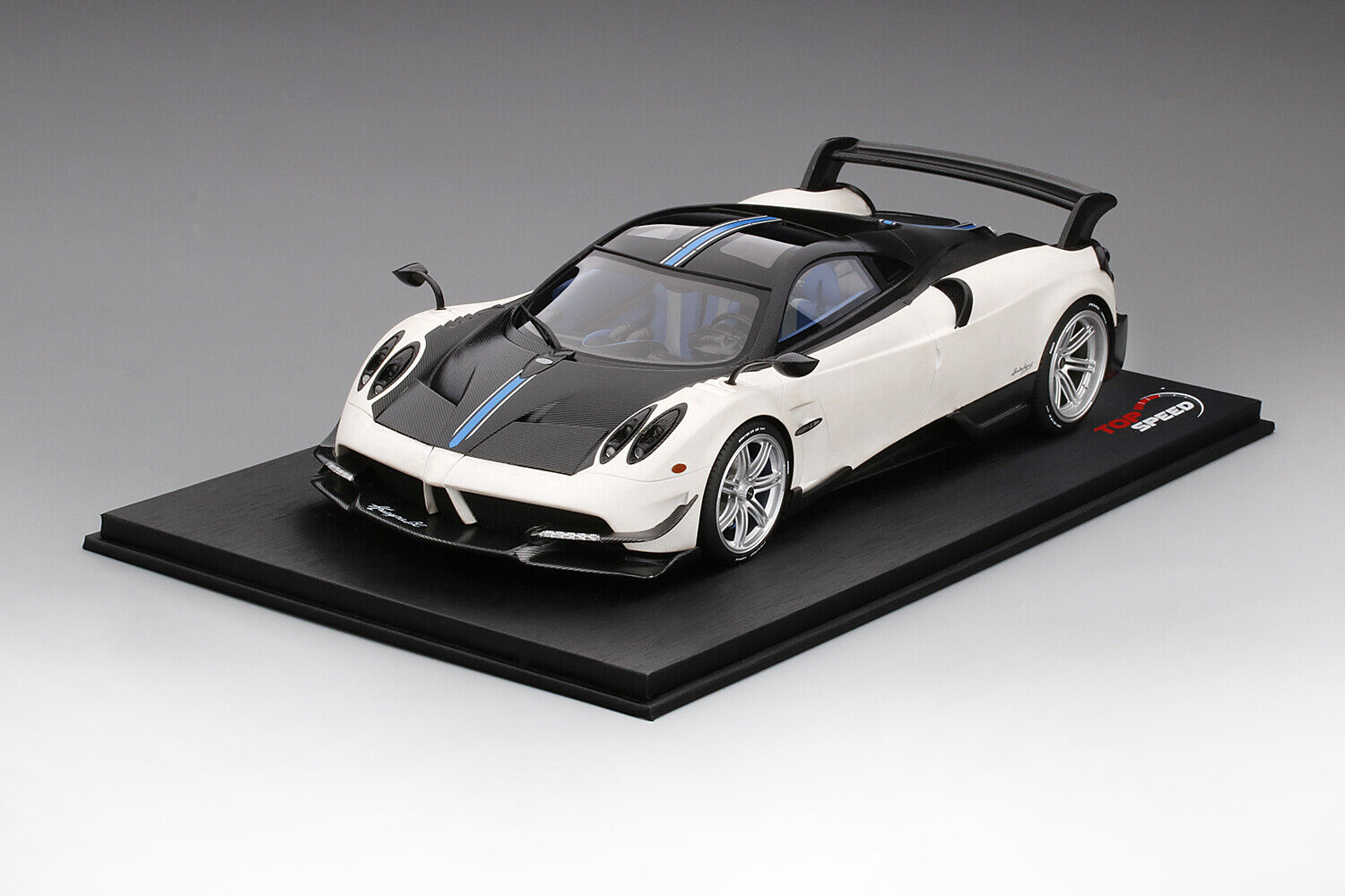Top Speed Pagani Huayra BC Matte bianca 1 18