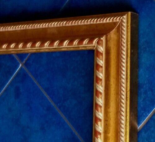 Leerrahmen Bilderrahmen-Holz-Barock-Sondermaße-alle Größen 943 Gold