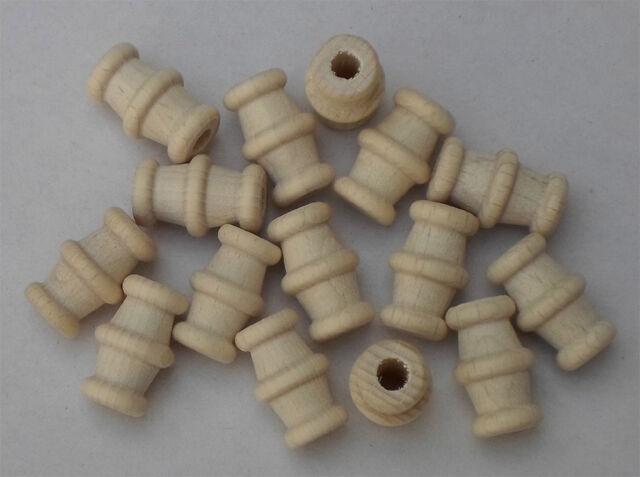 Formhülse mit Rillen, Buche gebleicht, Sonderformen für Fädelarbeiten  #1773
