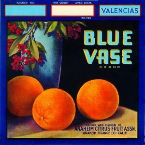 Anaheim El Pavo Real Peacock Orange Citrus Fruit Crate Label Art Print
