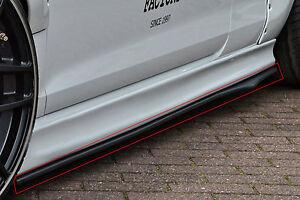 CUP-2-Seitenschweller-Schweller-Sideskirts-ABS-fuer-Ford-Focus-ST-Turnier-DYB