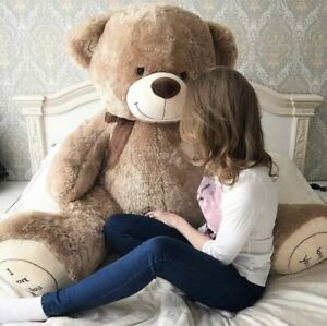 Teddy-Bear-190-CM-Giant-Big-XXL-Plush-Animal-Stuffed-Snuggle-Gift-Fabric