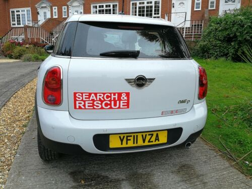 SEARCH /& RESCUE Magnet Emergency Service Car Door Magnets 1x Red /& 1x Blue 460mm