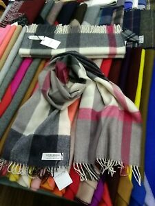 100% Lambswool Wide Scarf | Lochcarron | Made in Scotland | Flisk Pink Stole