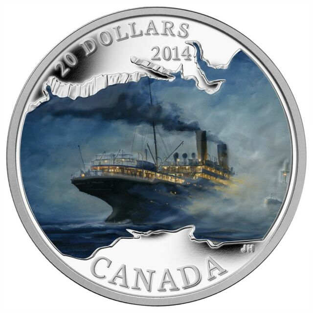 CANADA 2014 $20 Lost Ships in Canadian Waters - Empress of Ireland - Box/CoA