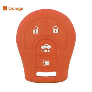 1× Silicone Key Cover Case Shell Fob Fit For Nissan Sentra Altima Juke Rogue OR